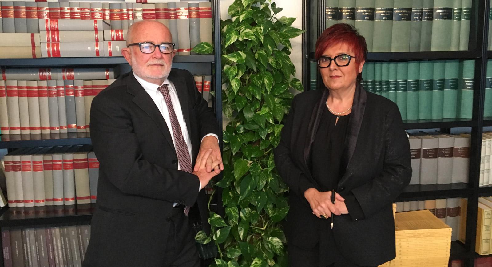 avvocato Maurizio Pavirani e avvocato Antonella Montanari soci titolari dello studio Pavirani & Associati